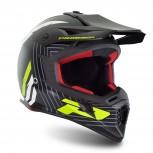 MX Helm 3095 Black / Yellow Fluo